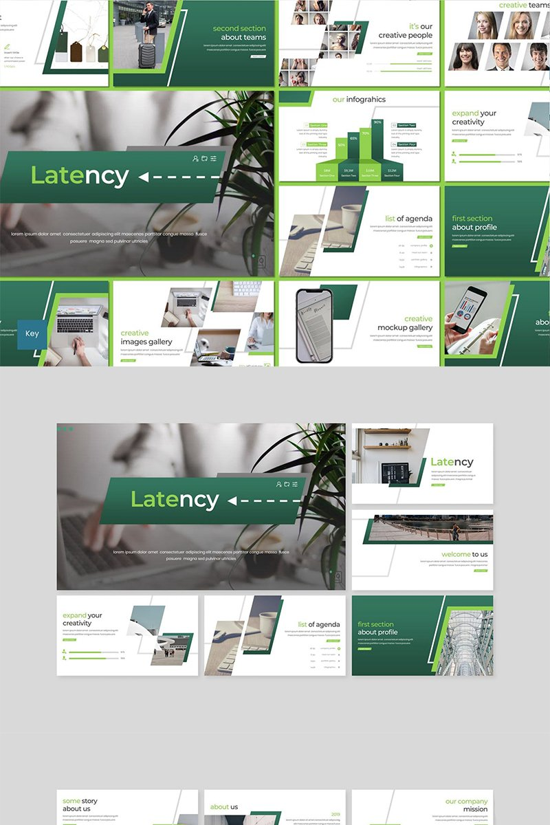 """Latency"" Keynote Template №89108"