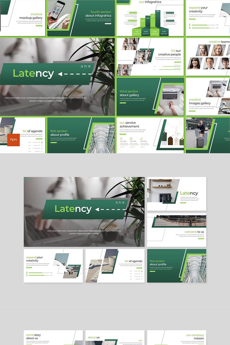 Latency PowerPoint sablon 89126