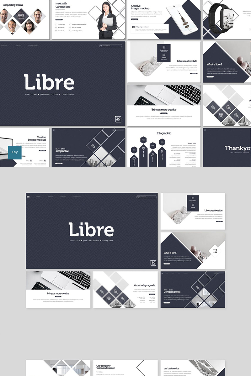 """Libre"" Keynote Template №89107"
