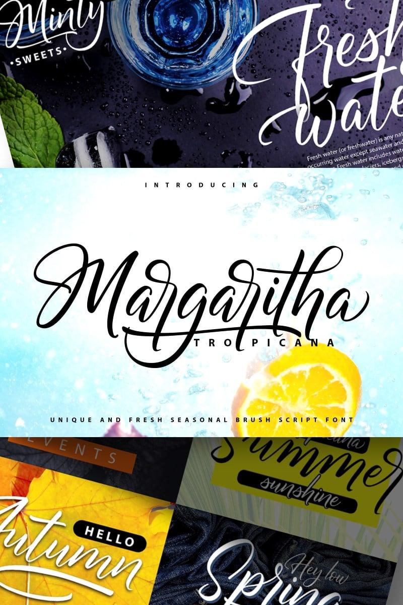Margaritha-Tropicana | Unique Brush Script Yazıtipi #89169