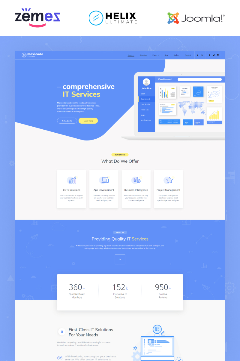 """Maxicode - IT Multipage Creative"" 响应式Joomla模板 #89162"