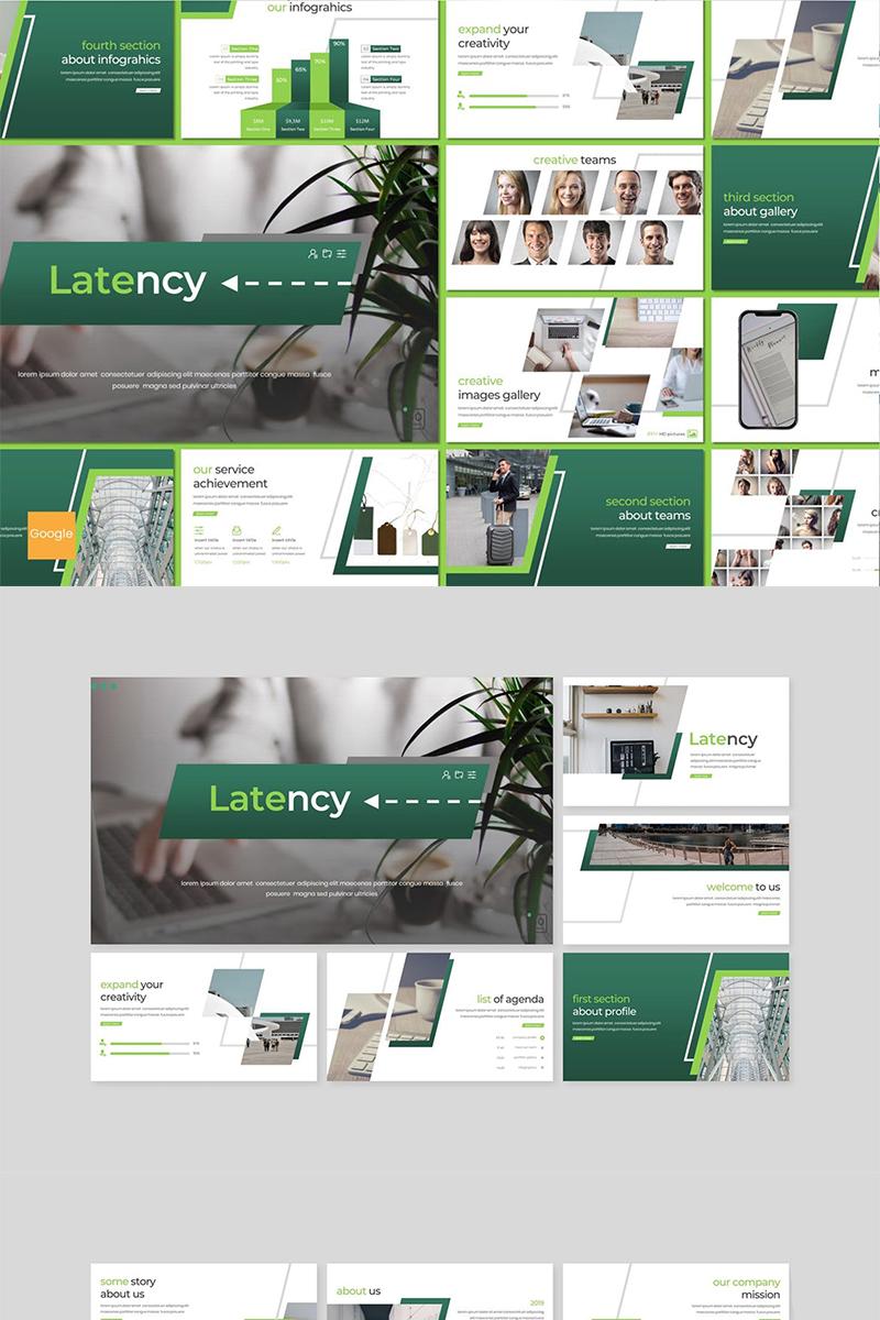 "Modello Google Slides #89156 ""Latency"""