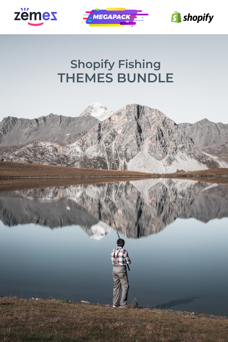 "Modello Shopify #89120 ""Fishing Themes Bundle"""