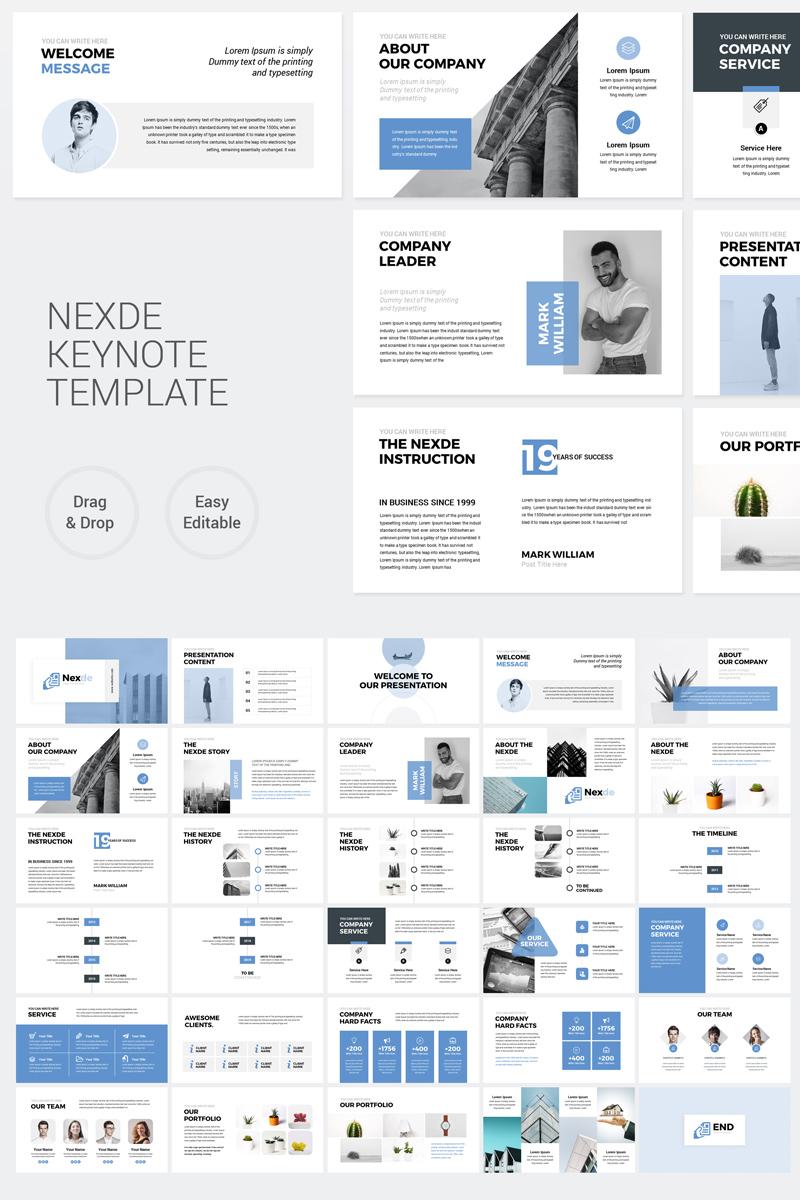 Nexde - Modern Simple clean Business Presentation Keynote #89114
