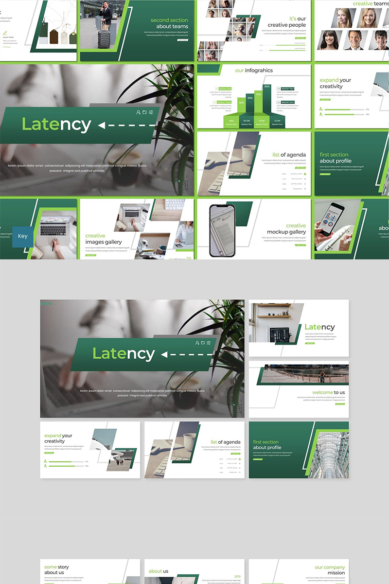 "Plantilla Keynote ""Latency"" #89108"
