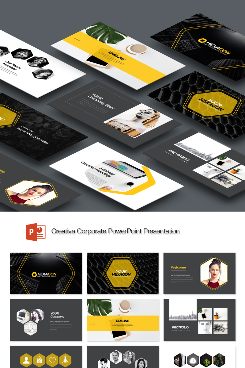 "Plantilla PowerPoint ""Creative Business"" #89133"