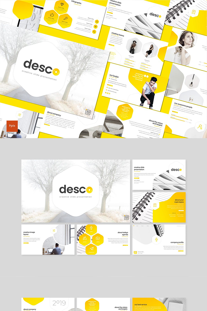 "Plantilla PowerPoint ""Desco"" #89137"