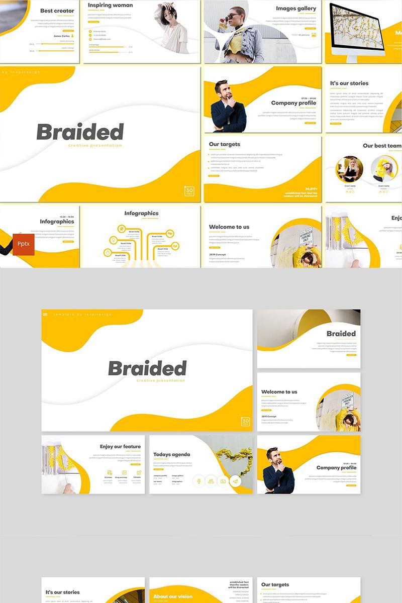 """PowerPoint šablona """"Braided"""" #89144"""