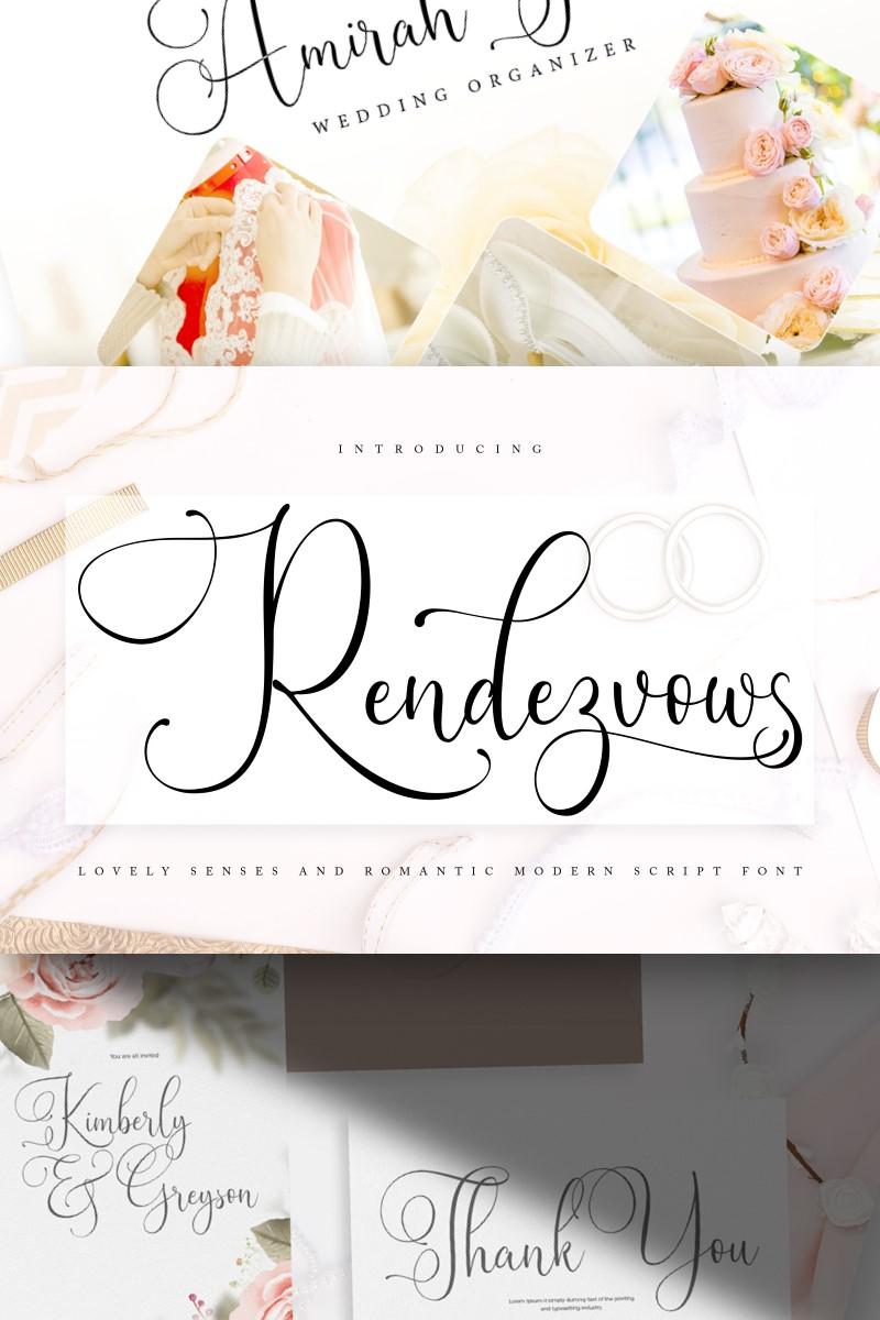 """Rendezvouws | Modern Script"" 字体 #89173"