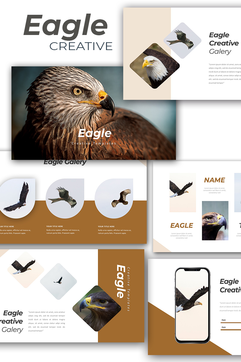 Responsivt Eagle Creative Keynote Template #89118 - skärmbild