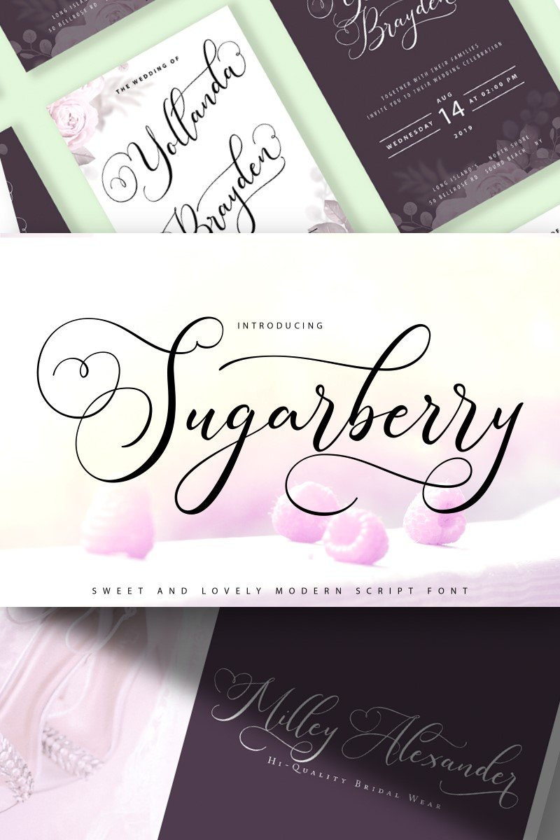 Sugarberry | Modern Script Fonte №89176 - captura de tela