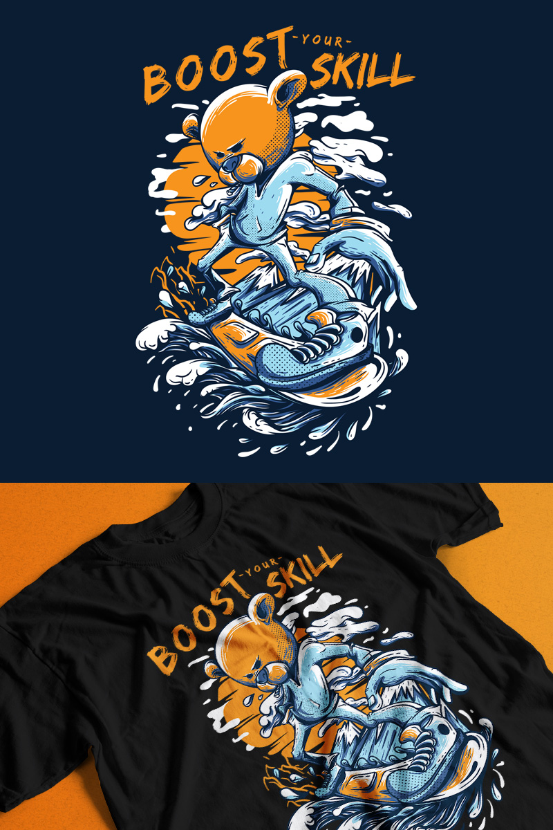 """T-shirt """"Boost Your Skill"""" #89188"""