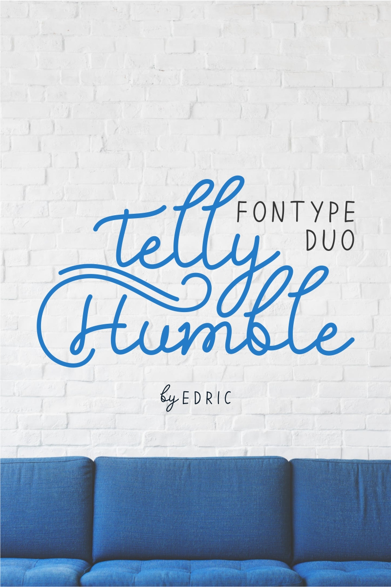 """""""Telly Humble"""" Lettertype №89179 - screenshot"""