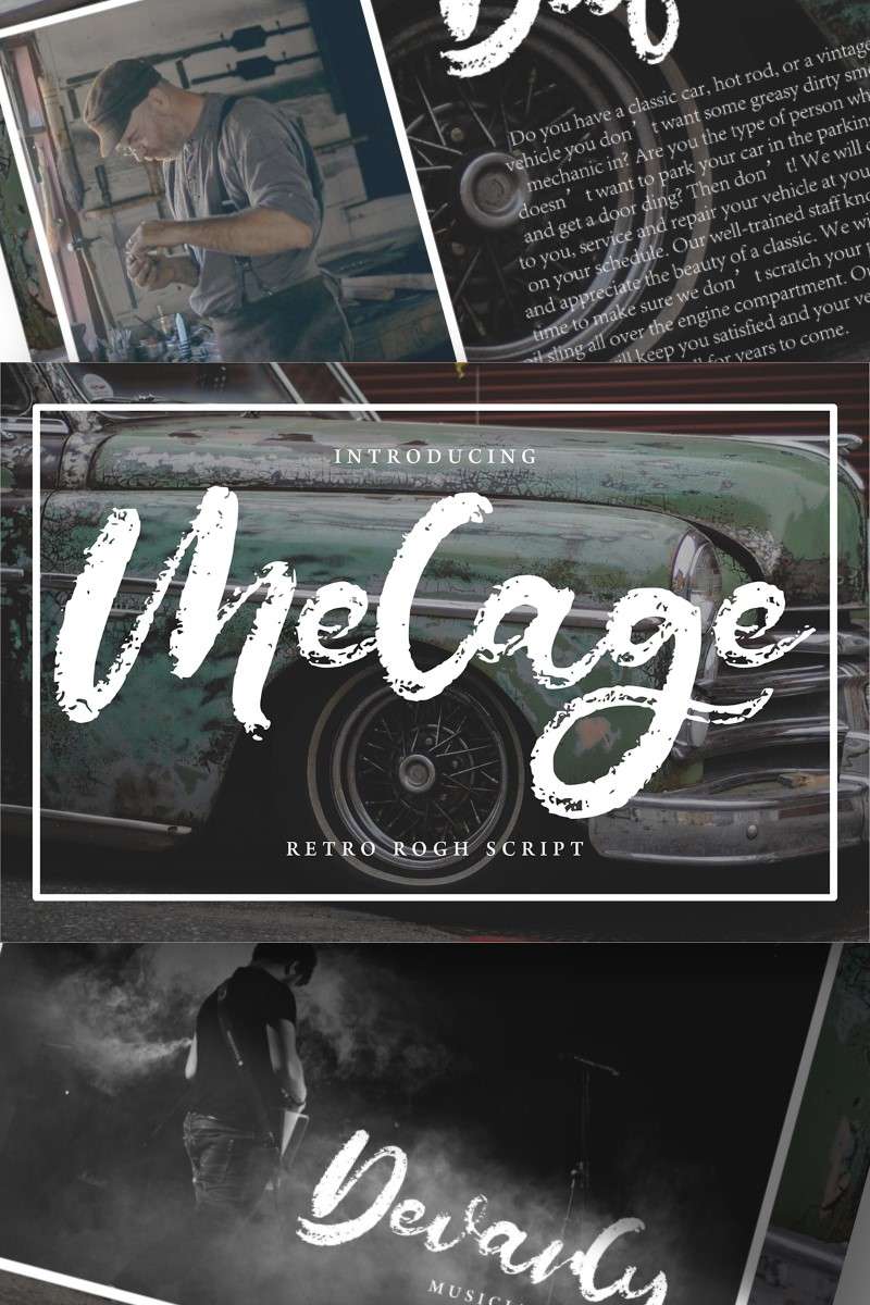 "Tema Font #89166 ""Melage | Retro Rogh Script"""