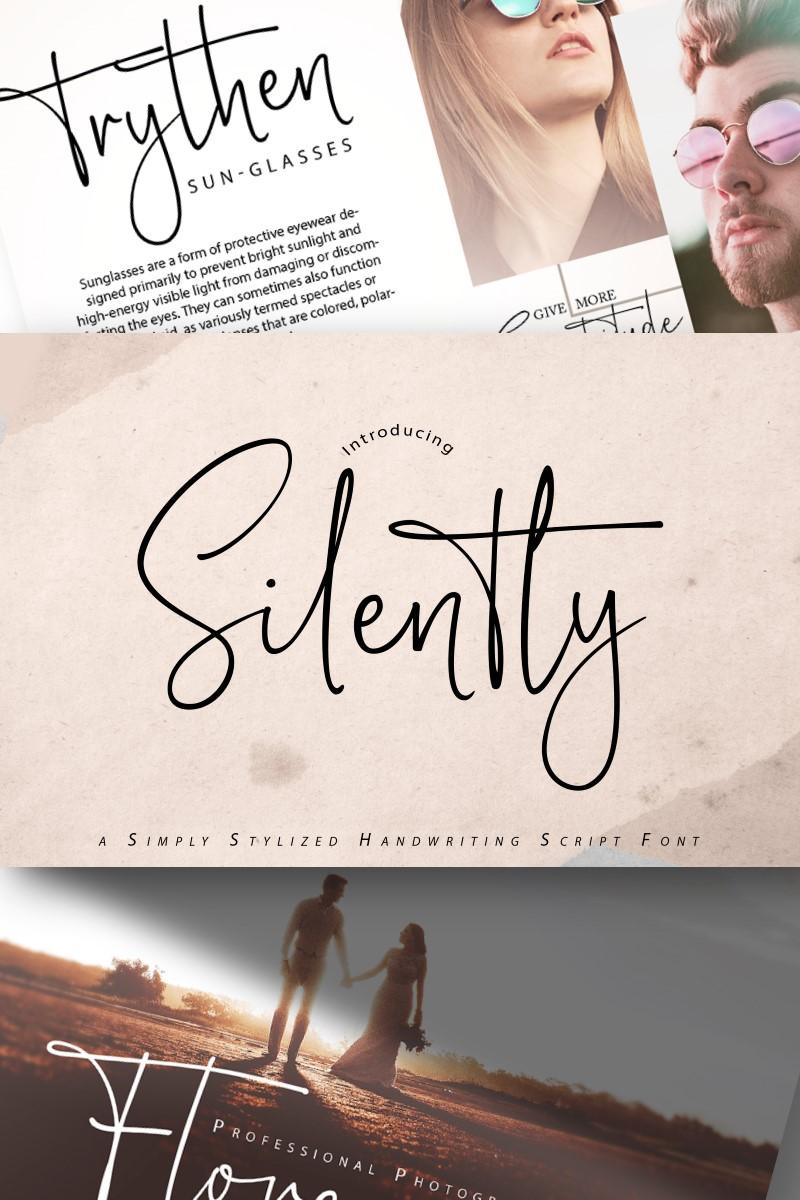 "Tema Font #89175 ""Silently | Handwriting Script"""