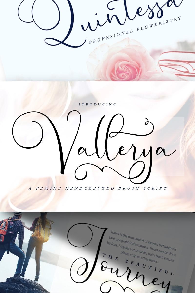 """Vallerya | Handcrafted Brush Script"" 字体 #89170"