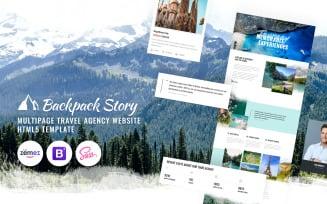 Backpack Story - Online Travel Agency Website Template