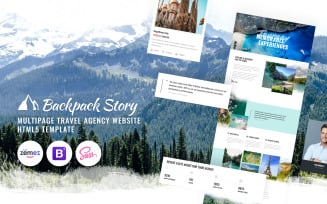 Backpack Story - Online Travel Agency Website Template