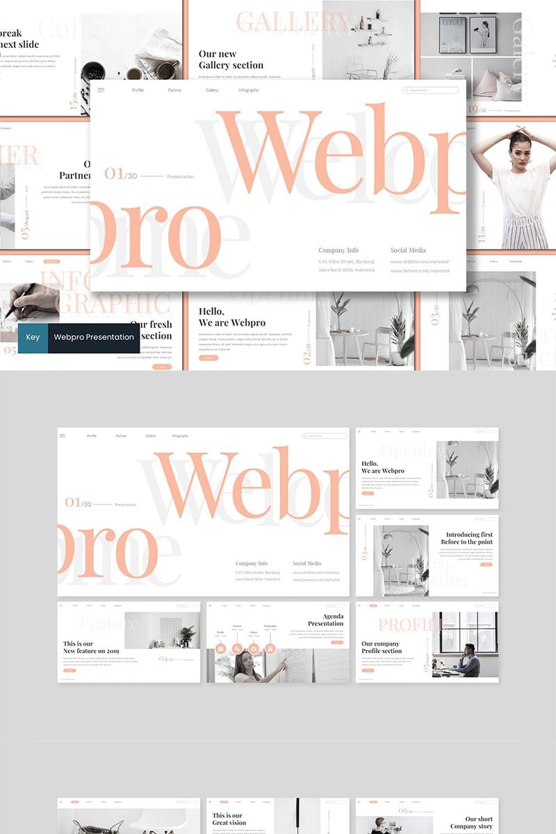 """Keynote Vorlage namens """"Webpro"""" #89280"""