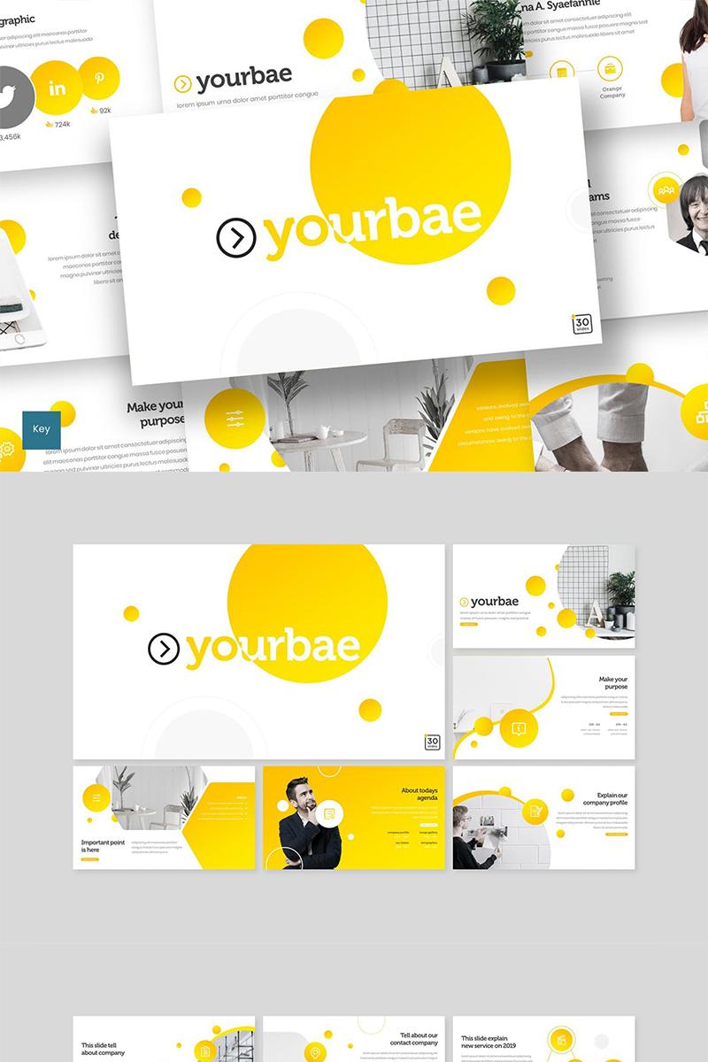 """Keynote Vorlage namens """"Yourbae"""" #89278"""