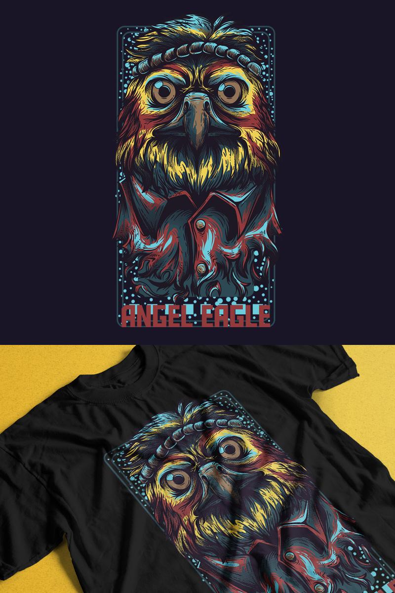 """Modello T-shirt #89297 """"Angel Eagle"""""""