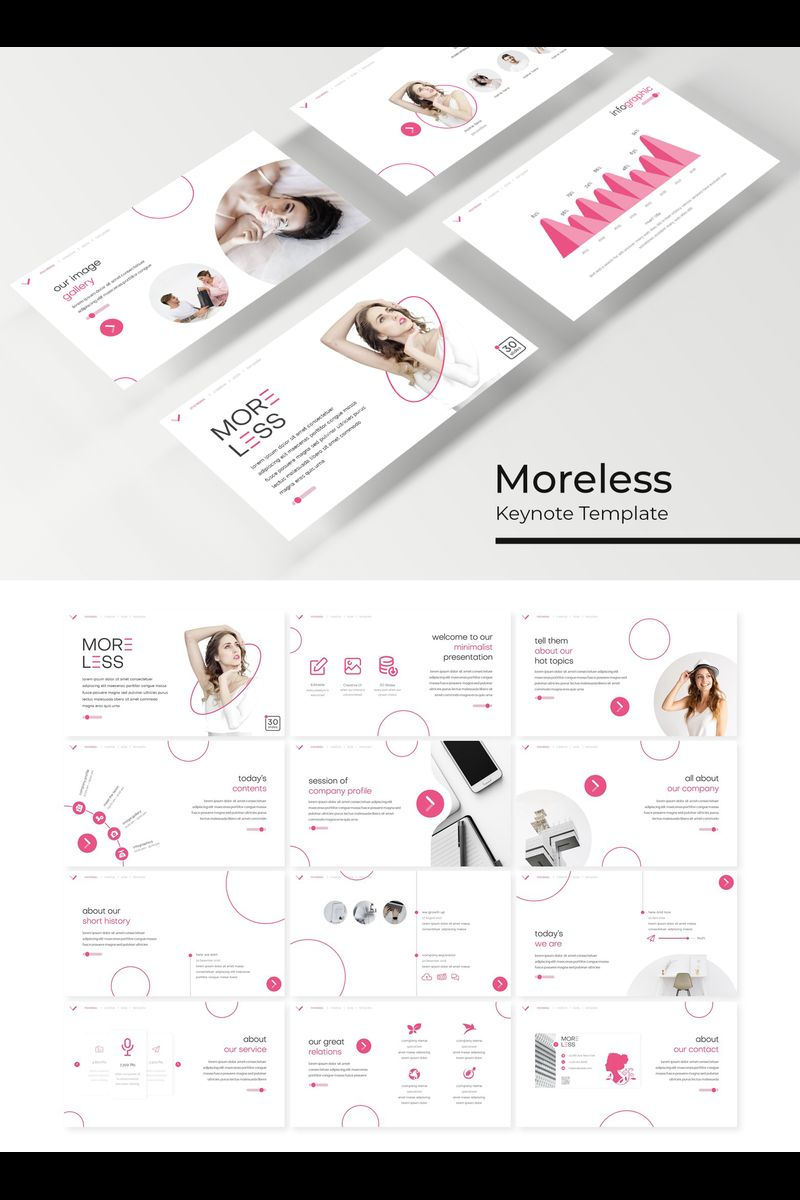 """Moreless"" Keynote Template №89229"