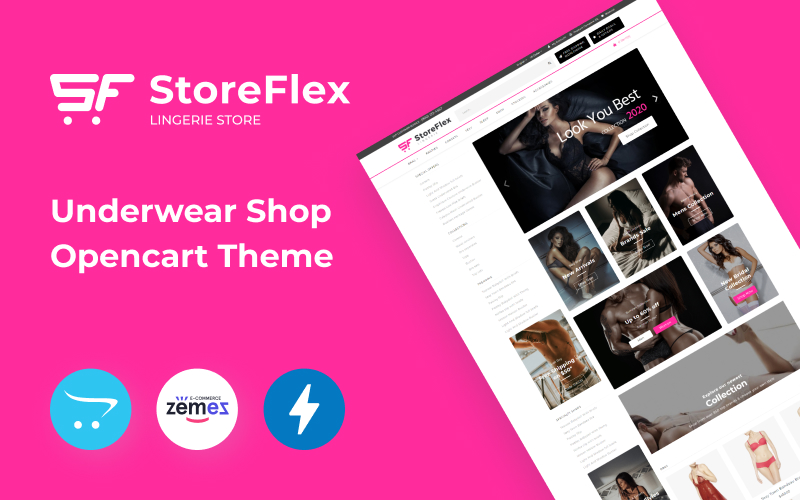 "OpenCart Vorlage namens ""StoreFlex Lingerie Website Template for Underwear Shop"" #89210"