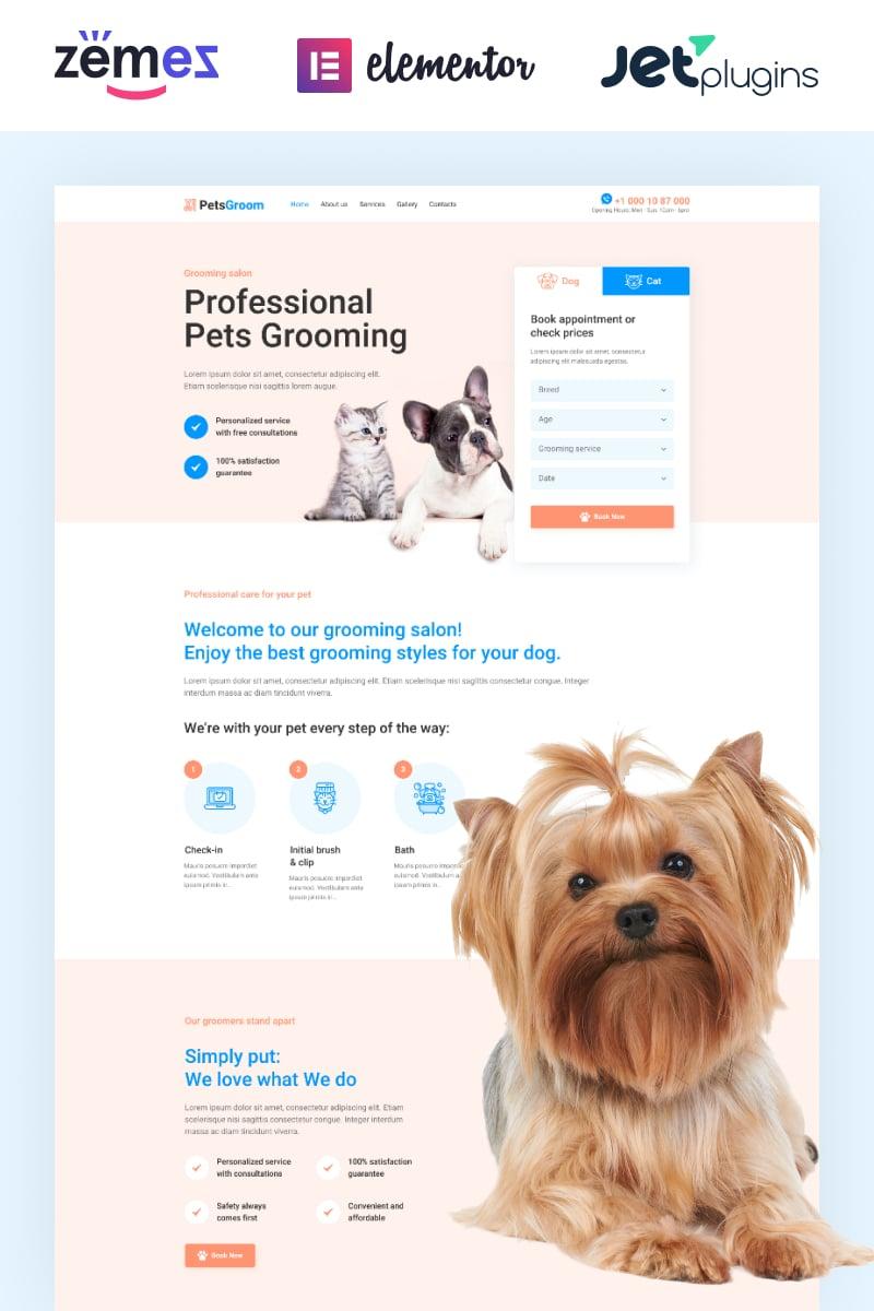 PetsGroom - Dog & Cat Grooming Tema WordPress №89254 - captura de tela