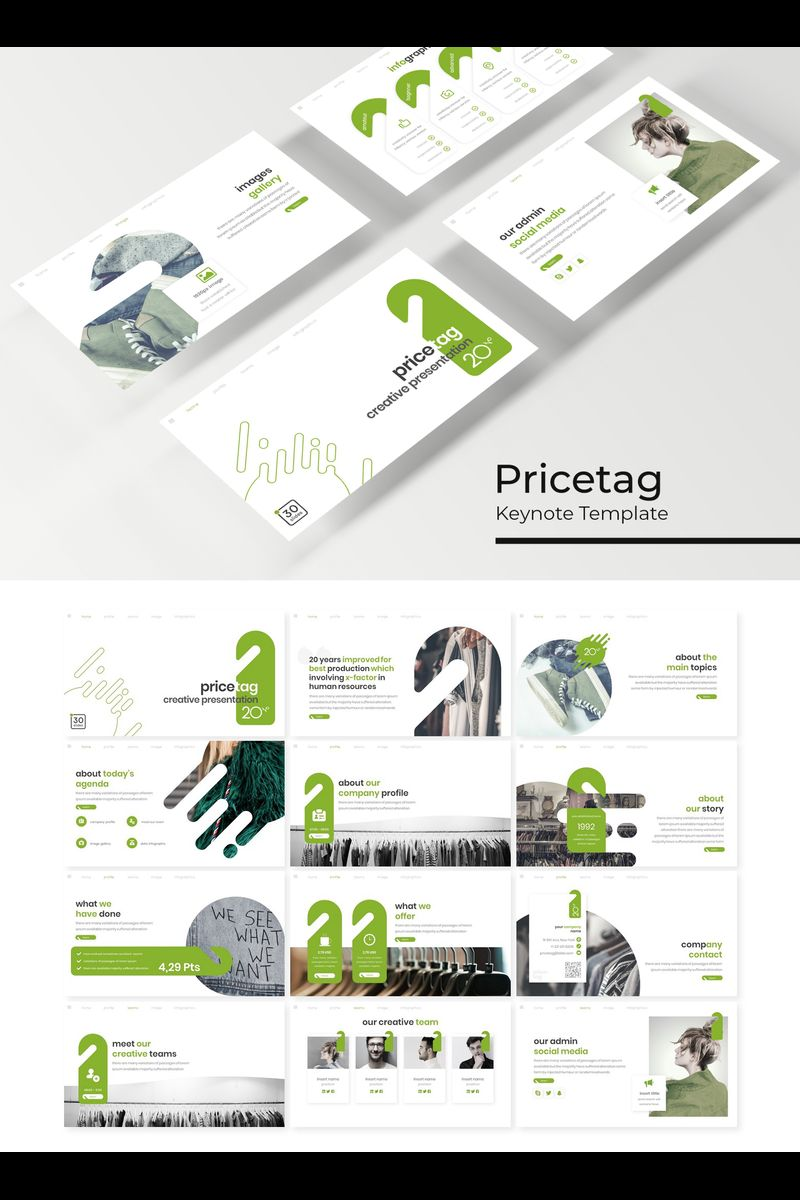 """Pricetag"" Keynote Template №89224"