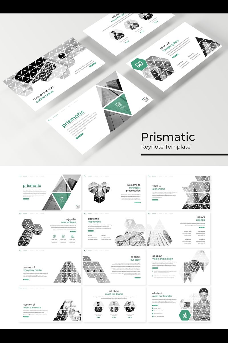 """Prismatic"" Keynote Template №89223"