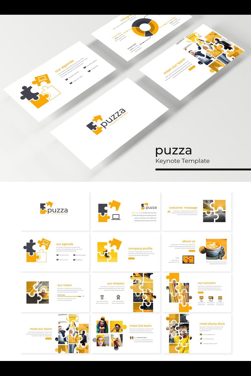 """Puzza"" Keynote Template №89230"