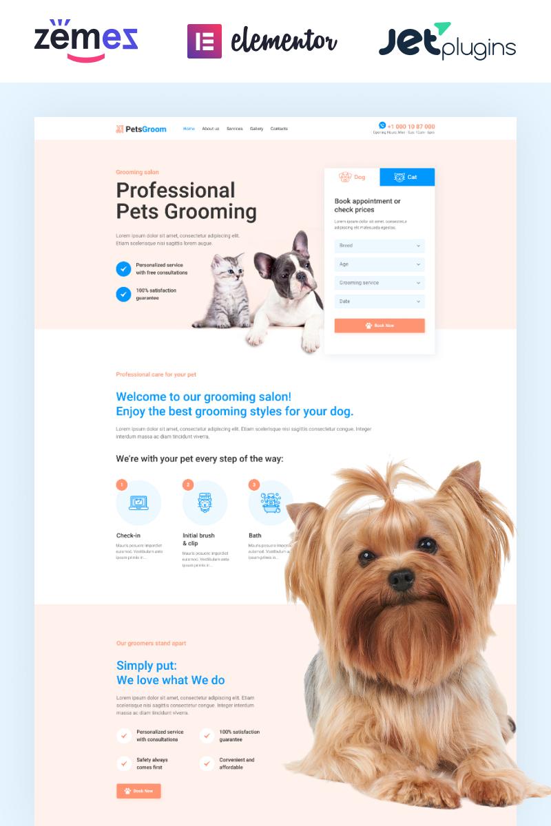 Reszponzív PetsGroom - Dog & Cat Grooming WordPress sablon 89254