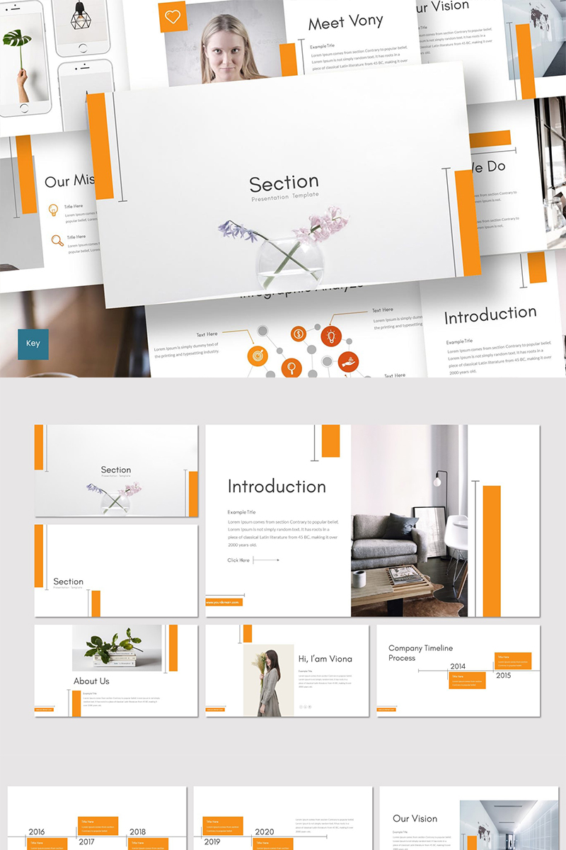 """Section"" Keynote Template №89222"