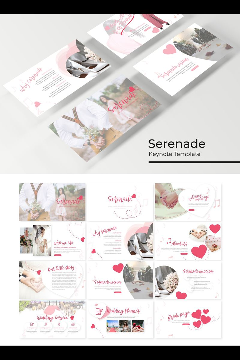 """Serenade"" Keynote Template №89220"