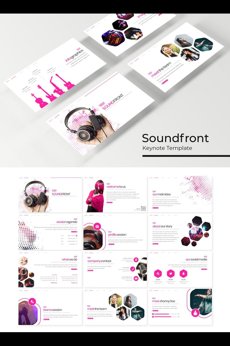 """Soundfront"" Keynote Template №89219"