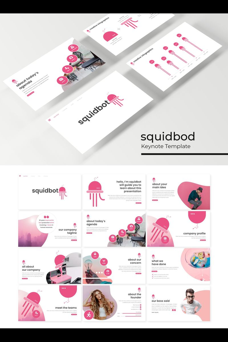 """Squidbod"" Keynote Template №89216"