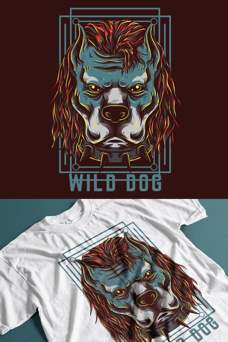 """Template T-shirt #89296 """"Wild Dog"""""""