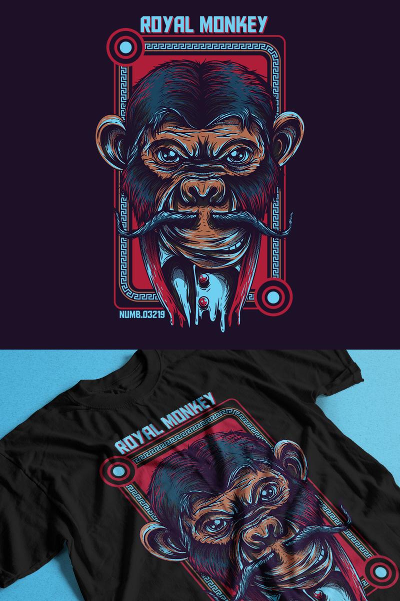 """Template T-shirt #89299 """"Royal Monkey"""""""