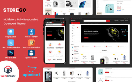StoreGo - MultiPurpose Electronic Store OpenCart Template