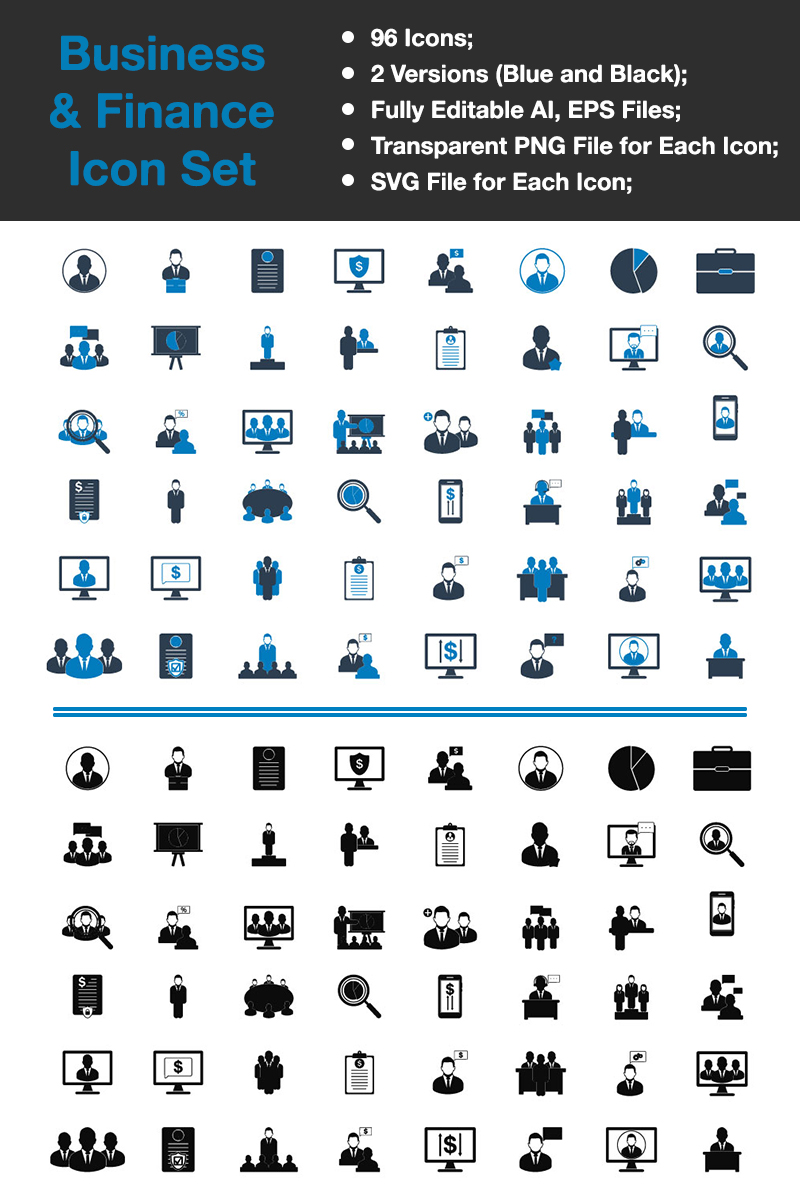 """Business & Finance - Premium Vector"" Premium Iconset template №89335"