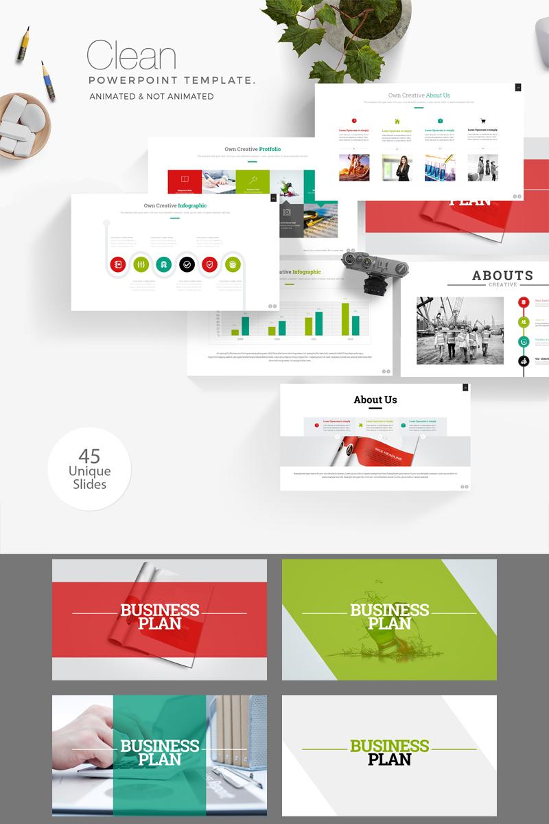 Business Plan Presentation PowerPoint sablon 89360