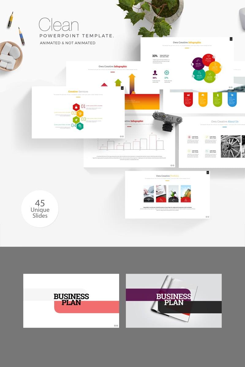 Business Plan Presentation PowerPoint sablon 89363