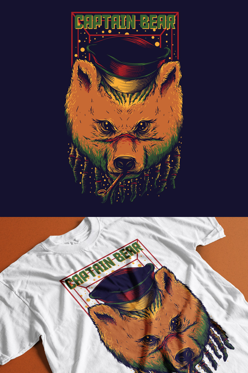 Captain Bear T-shirt №89301
