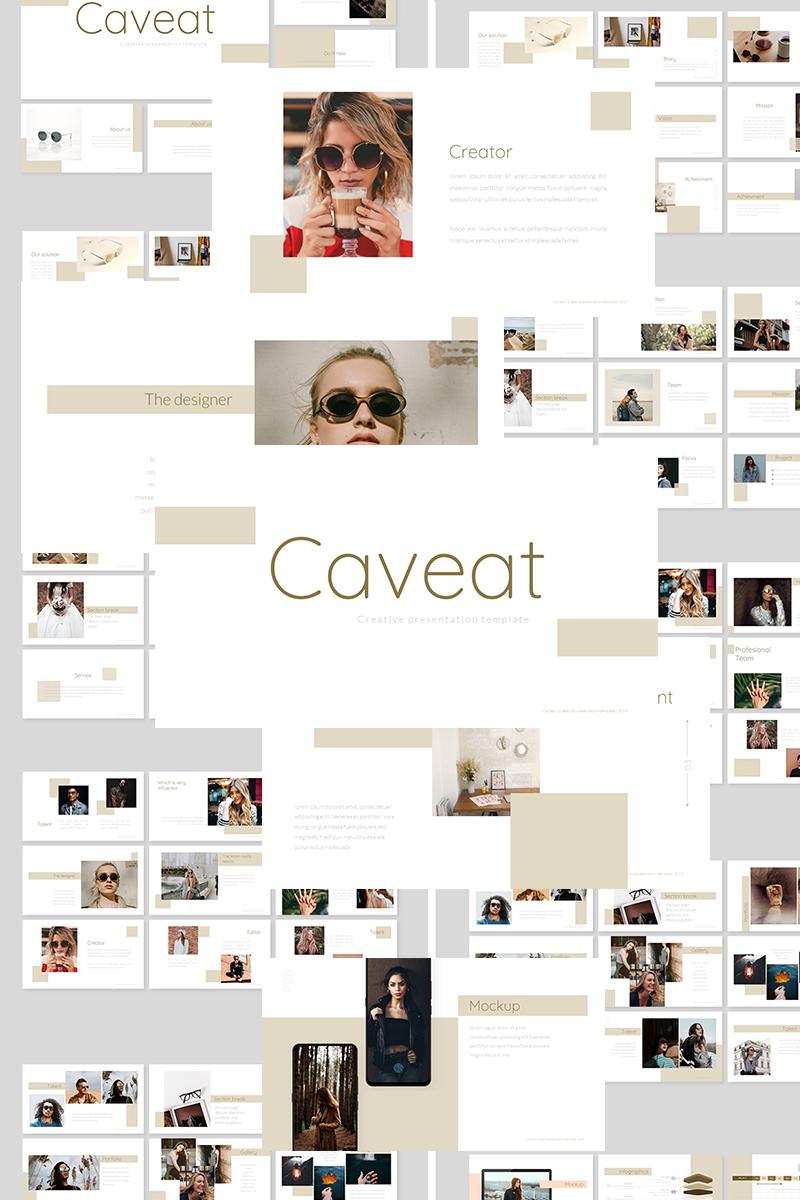 """""""Caveat Minimal"""" Google Slides №89384"""