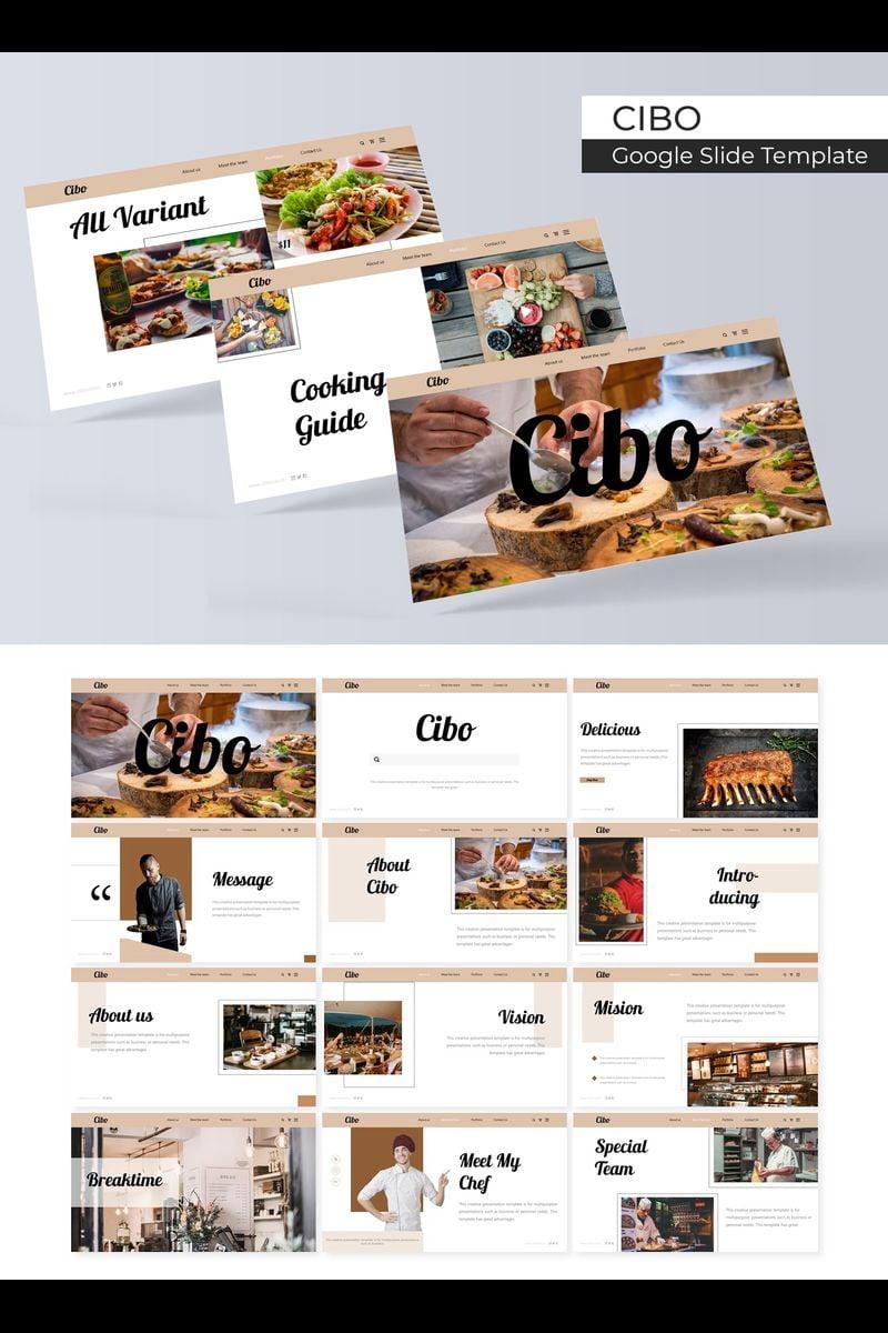 """""""Cibo"""" Google Slides №89399"""
