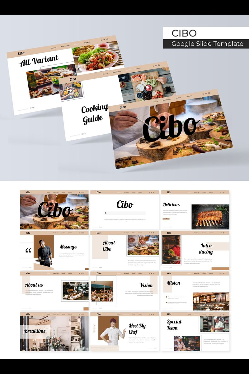 """Google Slides """"Cibo"""" #89399"""