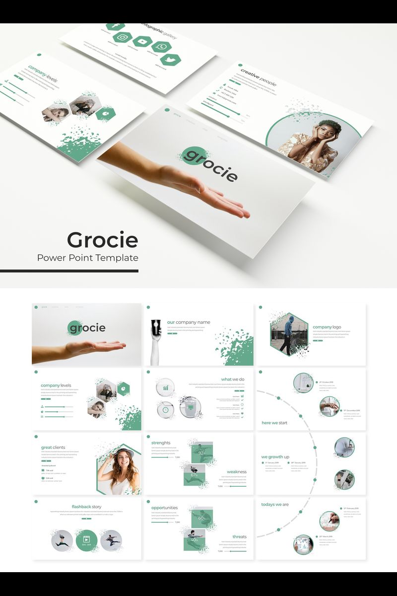 """Grocie"" PowerPoint Template №89379"