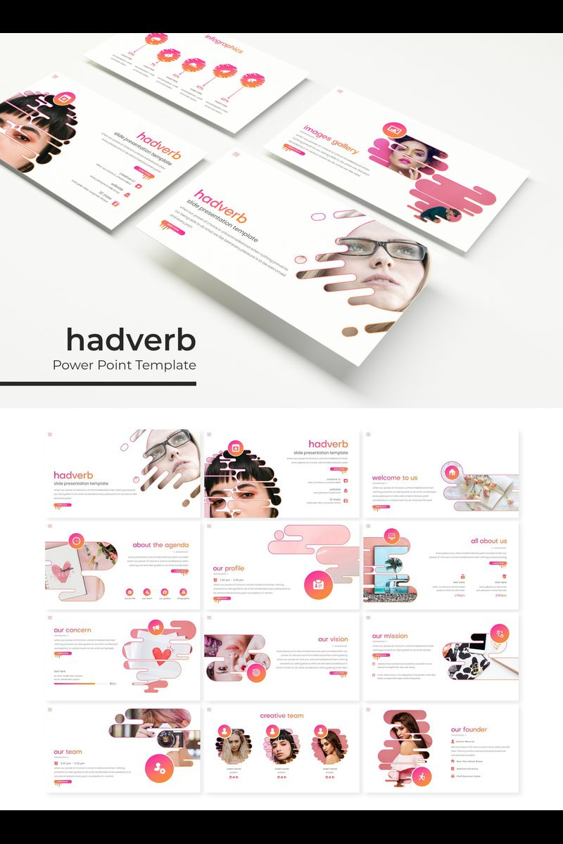 """Hadverb"" PowerPoint Template №89374"