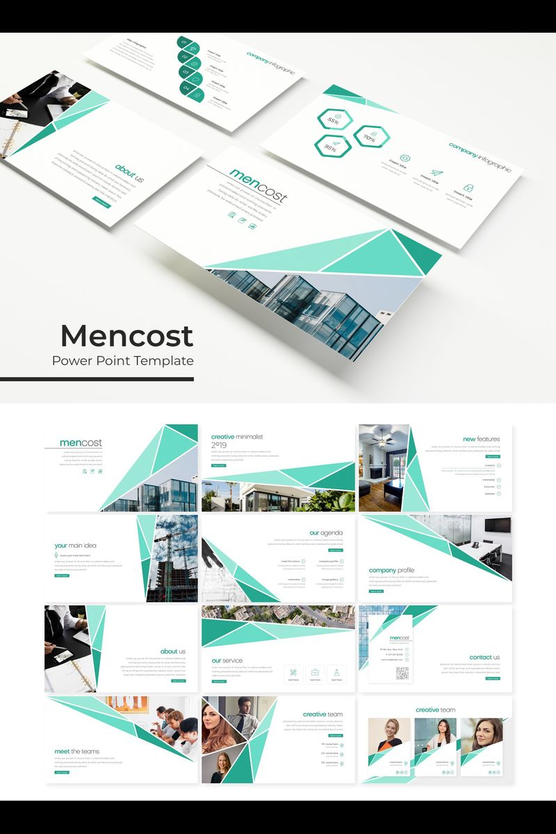 """""""Mencost"""" PowerPoint Template №89330"""