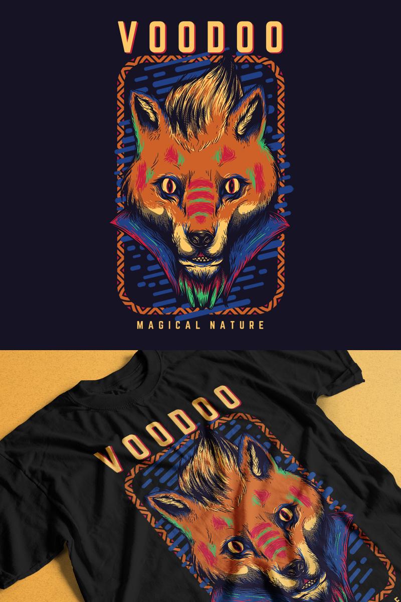 "Modello T-shirt #89300 ""Voodoo Fox"""